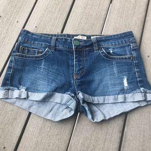 Indigo Rein Blue Denim Shorts 5/$25